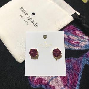 KSNY studs gum drop earrings (fuchsia)